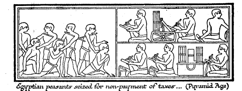 Wells_egyptian_peasants_taxes